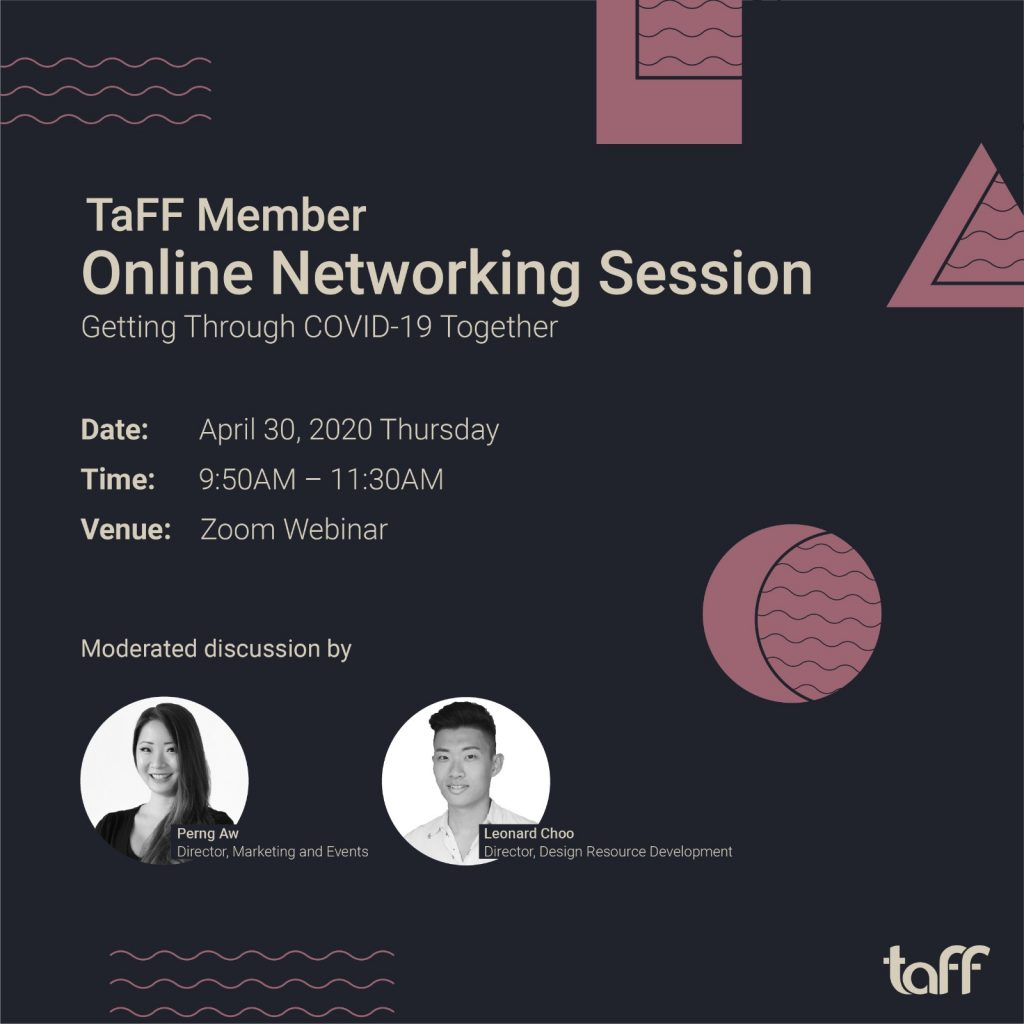 TaFF member online networking session